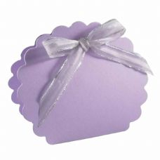 Lilac Scalloped Clam Designer Favour Boxes